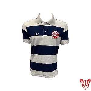 Camisa Náutico Timbushop - Polo Listras Marinho - Masculina