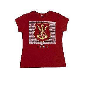 Camisa Náutico Timbushop - Hino e Brasão Dourado - Feminina
