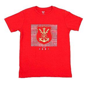 Camisa Náutico Timbushop - Hino e Brasão Dourado - Infantil