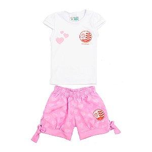 Conjunto Náutico Timbushop - Camisa + Short - Torcida baby