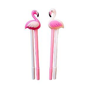 Caneta em Gel Dupla - Flamingo