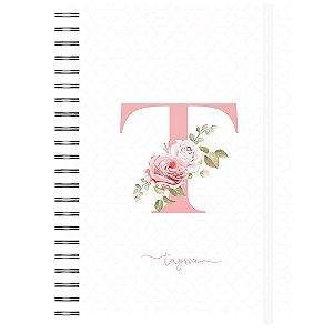Controle Financeiro: Letra Floral - Capa Branca