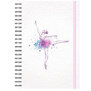 Caderno A5 : Dança Lilás