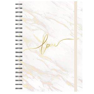 Caderno A5 : Love Dourado