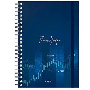 Caderno A5 Masculino : Trader Financeiro