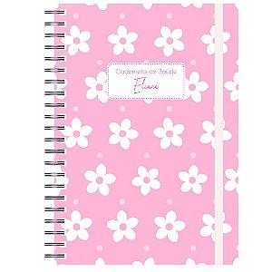 Caderneta de Saúde - Flores Branco/Rosa