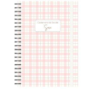 Caderneta de Saúde - Quadriculada Rosa