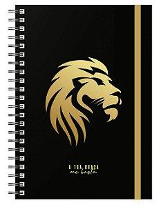 Planner Devocional: Leão Preto/Dourado