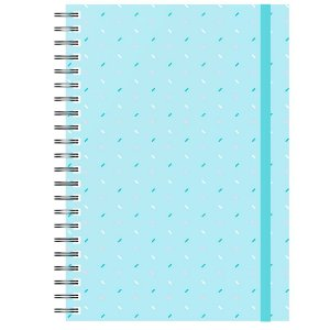 Planner Permanente : Confete Fundo Azul
