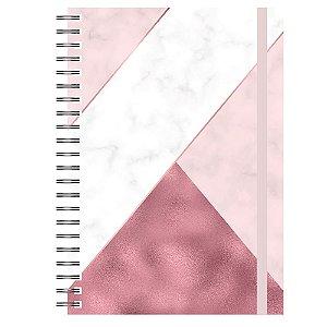 Caderno A5 : Mármore Rose Gold