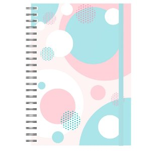 Caderno A5 : Abstrato Colorido