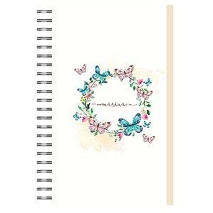 Caderno A5 : Círculo Borboleta