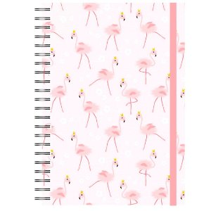 Caderno A5 : Flamingo Rosa