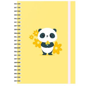 Caderno A5 : Panda Amarelo
