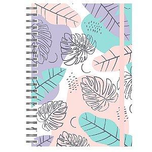 Caderno A5 : Tropical Lilás