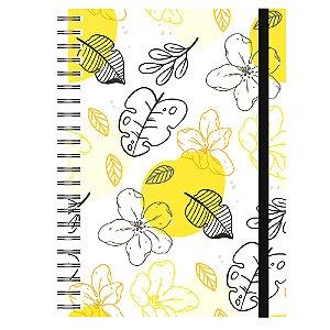 Caderno A5 : Tropical Amarelo