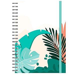 Caderno A5 : Tropical Folhas Grandes