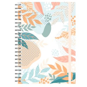Caderno A5 : Abstrato Tropical