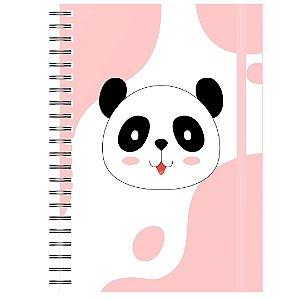 Caderno A5 : Panda Rosa