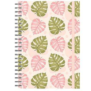 Caderno A5 : Tropical Rosa