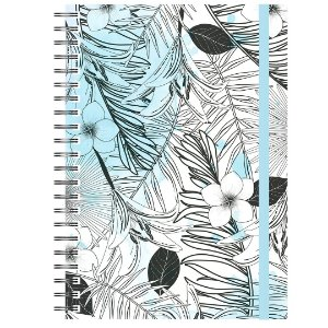 Caderno A5 : Tropical Azul