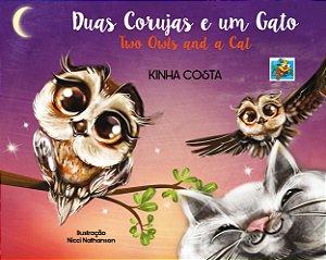 Duas corujas e um gato (Kinha Costa)