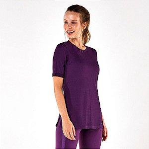 T-Shirt Alto giro Game Duo Abertura Lateral Roxo Grape 2112730
