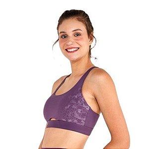 Top Alto Giro Bodytex Breeze Costas Cruzadas Roxo 2111539 - Feminino