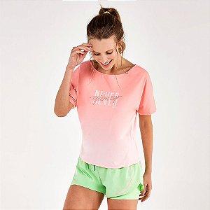 T-Shirt Alto Giro Skin Fit Decote Canoa e Silk Rosa Respire 2111737