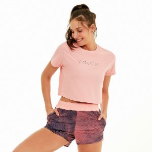 T-Shirt Alto Giro Speed Motivation Coral Cream 2121701