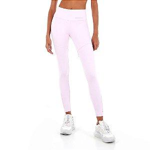 Calça Legging Alto Giro Blackout Recortes Soft Rosa
