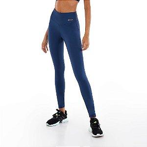Calça Legging Alto Giro Bodytex II Com Laser Azul Ocean