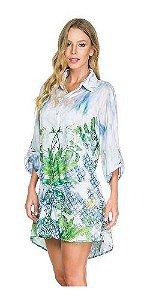 Camisa Maryssil Estampa Localizada Floral