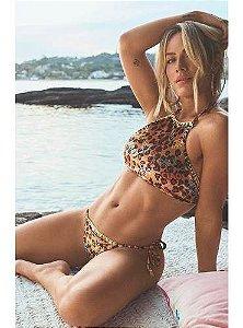 Biquíni New Beach Cropped Velvet Oncinha Giovanna Ewbank