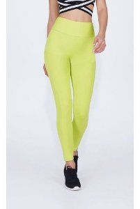 Legging Alto Giro Light Neon Com Recortes