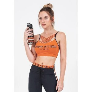 Top Alto Giro Light Day Laranja Queimado
