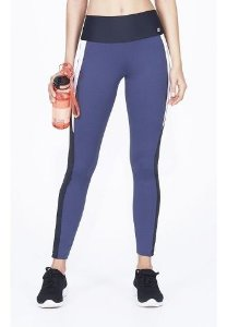 Legging Alto Giro Body Tex Breeze Recortes Laser Grafite Est