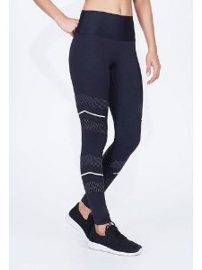 Legging Alto Giro Body Tex Breeze Laser Refletivo Preta