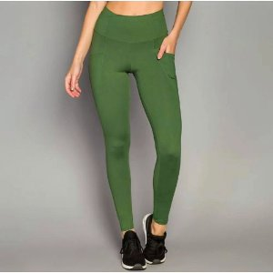 Calça Legging De Chelles Fuseau Bolsos Laterais Verde FT0450CA