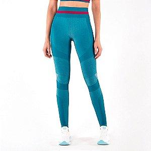 Calça Legging Alto Giro Sem Costura Emana Faixa Cos Verde 2111342