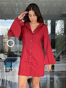 Chemise Gabi Linho vermelha