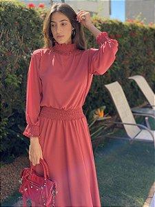 Vestido Renata Rosa Quartzo