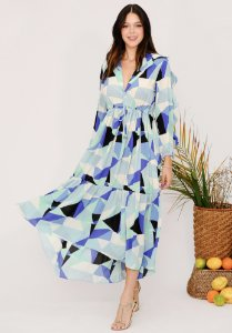 Vestido Isabel Geométrico