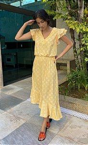 Vestido Bárbara Amarelo Poá