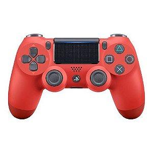 Controle Sony Dualshock 4 Magma Red Seminovo - PS4