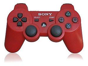 Controle DualShock 3 Vermelho Seminovo – PS3