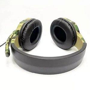 Headset Camuflado Stereo P2 Seminovo - PS4, Switch, PC, Xbox One, Xbox Series