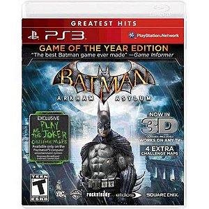 Batman Arkham Asylum G.O.T.Y Seminovo – PS3