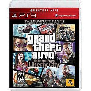 Grand Theft Auto GTA – Episodes From Liberty City Seminovo – PS3