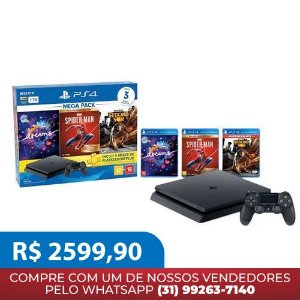 Console Playstation 4 Hits 1TB Bundle 17 - Dreams + Marvel's Spider-Man + Infamous Second Son